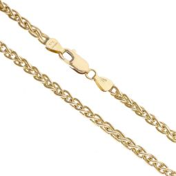 Pre-owned 9ct Yellow Gold Spiga Chain 16 Inches 14g