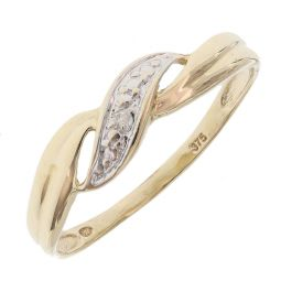 Pre-owned 9ct Yellow Gold Kiss Ring - Size N