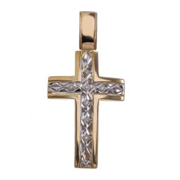 Pre-owned 14ct Gold Diamond Cross - 6g
