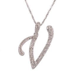 Pre-owned 18ct Gold Diamond Initial Necklace - 6g