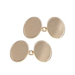 Pre-Owned 9ct Yellow Gold Fancy Classic Cufflinks - 12G