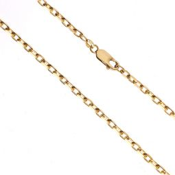 Pre-owned 9ct Yellow Gold Diamond Cut Belcher Chain 24.5 Inches 12g