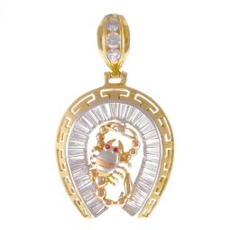 Pre-Owned 18ct Gold CZ Horse Shoe Pendant - 13G