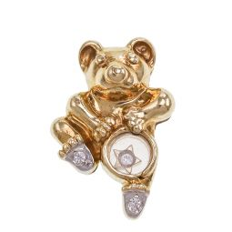 Pre-owned 9ct Gold CZ Bear Pendant