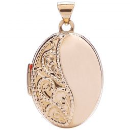 9ct Gold Oval Shaped Locket