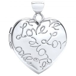 9ct Gold Heart Locket with Love engraving