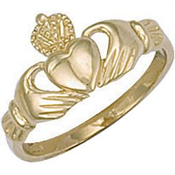 9ct Yellow Gold Baby Claddagh Ring