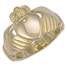 9ct Yellow Gold Claddagh Ring