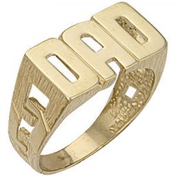 9ct Yellow Gold ID Sides Dad Ring