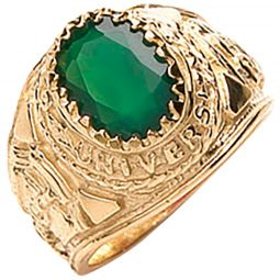9ct Yellow G Green Baby Collage Ring