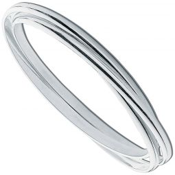 Silver Russian Style Bangle 3.2mm