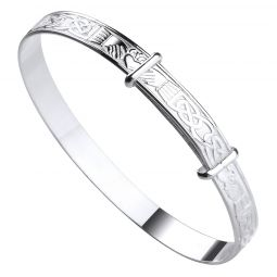 Silver Celtic Claddagh Expandable Baby Bangle