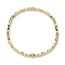 Silver Gold Plated Faceted Bracelet