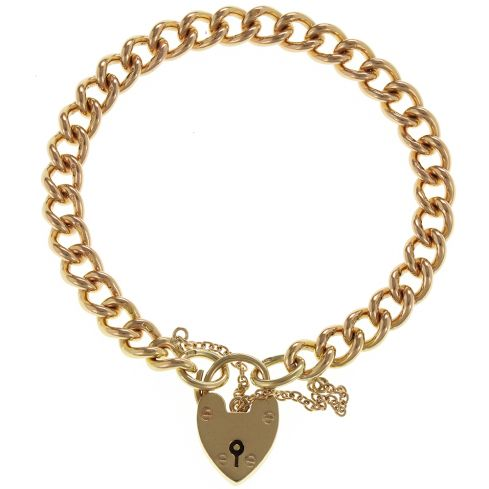 Pre-Owned 9ct Yellow Gold Curb Bracelet  - 25.4g Gold