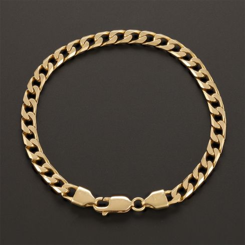 Pre-Owned 18ct Yellow Gold Curb Bracelet - 17g  Gold